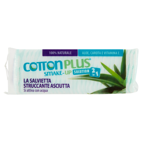 Cotton Plus - SMAKE-UP Salvietta Struccante Asciutta Mini 60 pz Aloe
