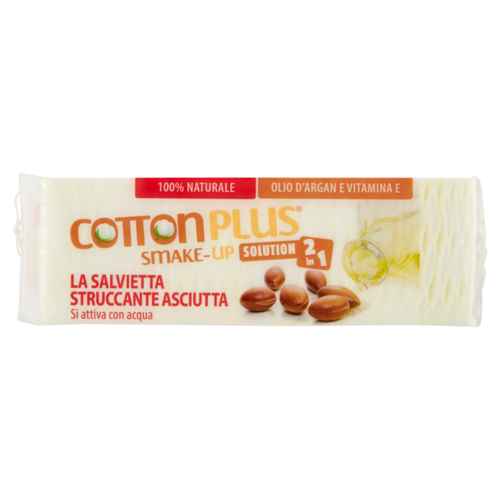 Cotton Plus - SMAKE-UP Salvietta Struccante Asciutta Mini 60 pz Argan