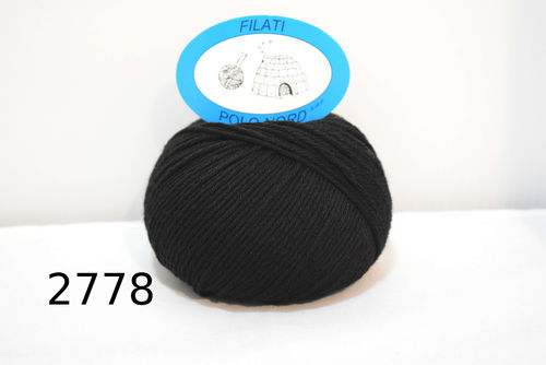 80%lana, 20%cashmere Black Beauty 2778 50 grammi