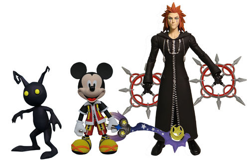 Diamond Select Kingdom Hearts Axel King Mickey Topolino Heartles Set Action Figure