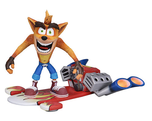 NECA Crash Bandicoot Jet Board Deluxe Action Figure