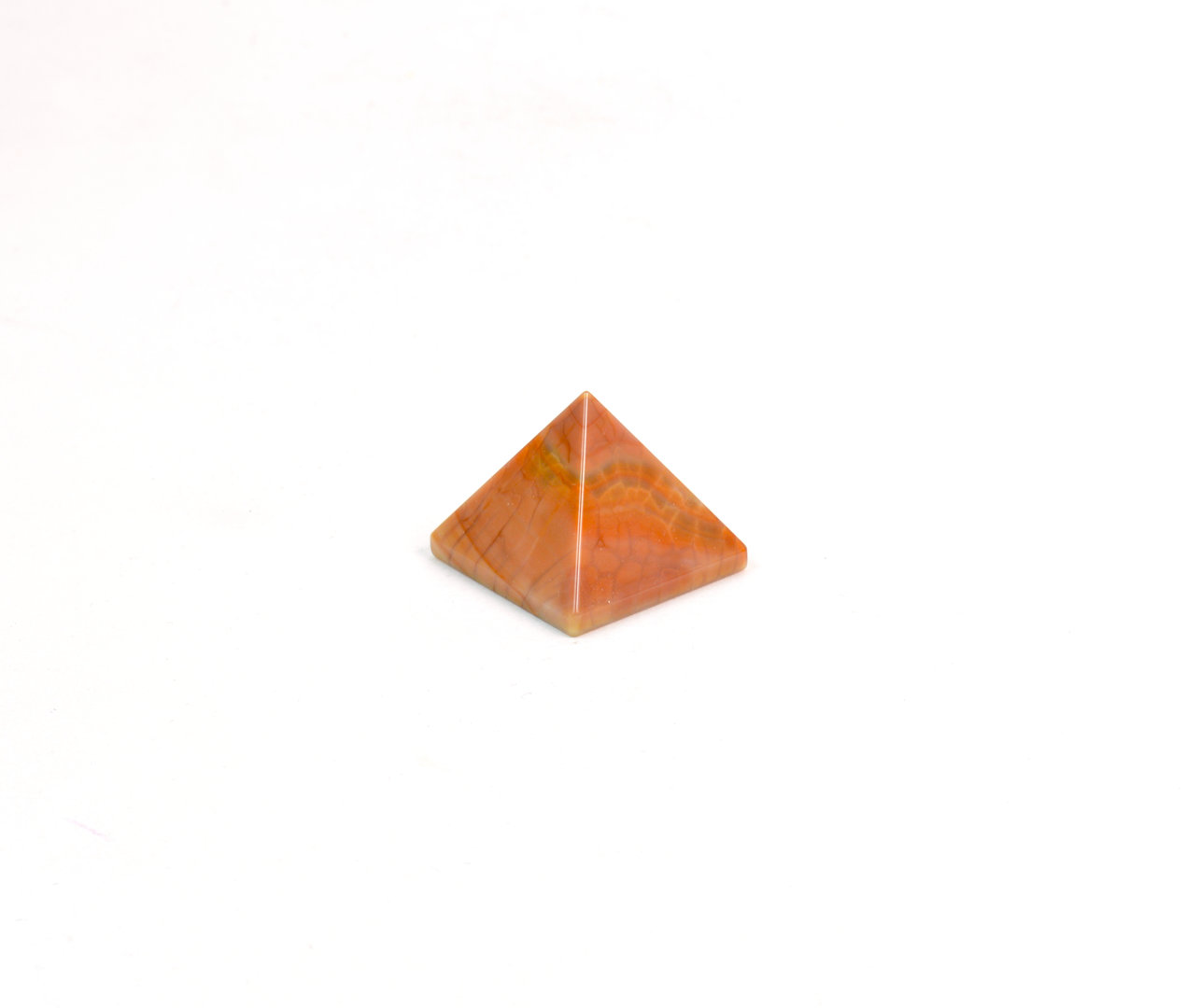 Piramide in Agata di Fuoco (base: 2,5x2,5 cm circa).Soprammobile,Idea Regalo