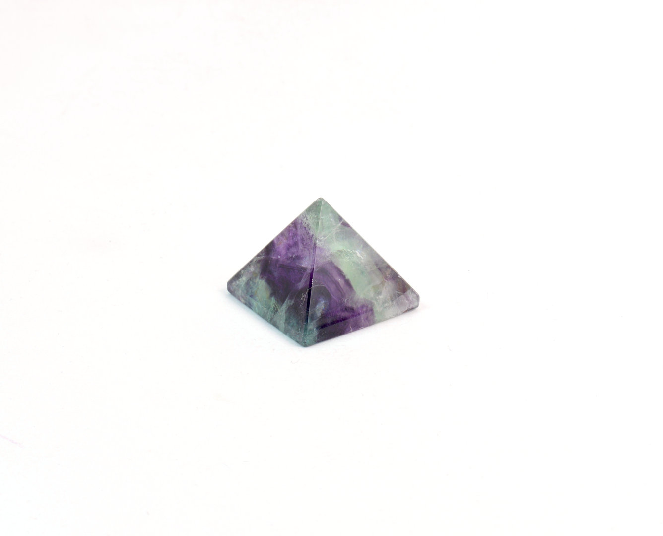 Piramide in Fluorite (base: 2,9x2,9 cm circa).Soprammobile,Idea Regalo