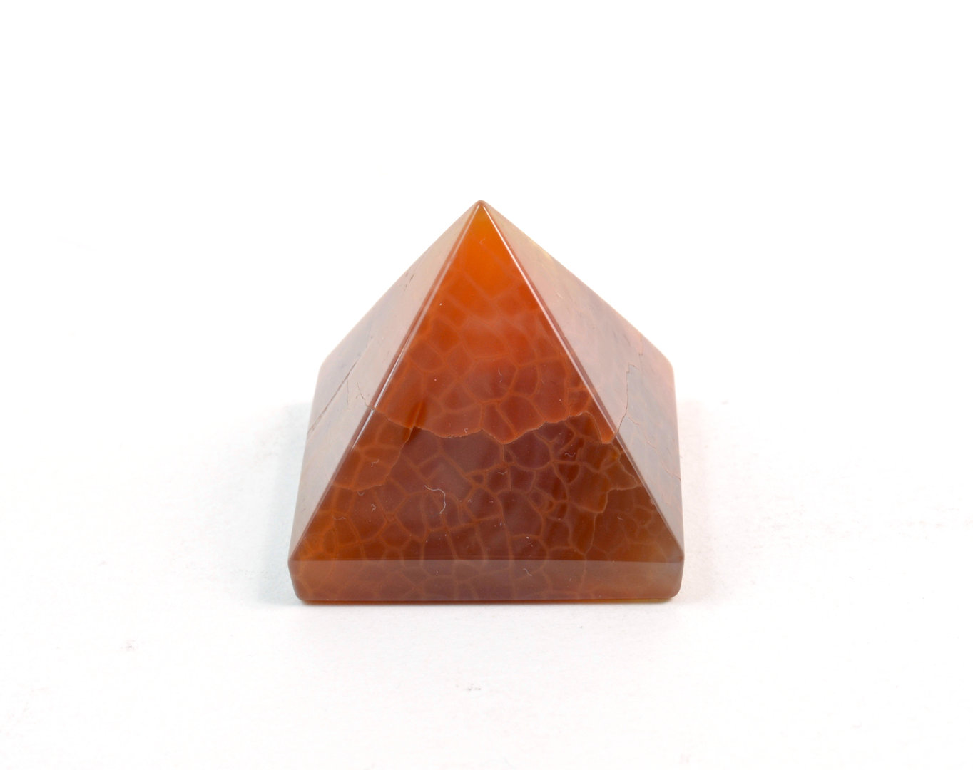 Piramide in Agata di Fuoco (base: 3,5x3,5 cm circa).Soprammobile,Idea Regalo