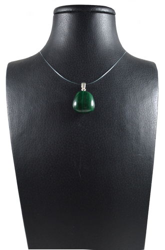 Ciondolo in Malachite e Argento 925