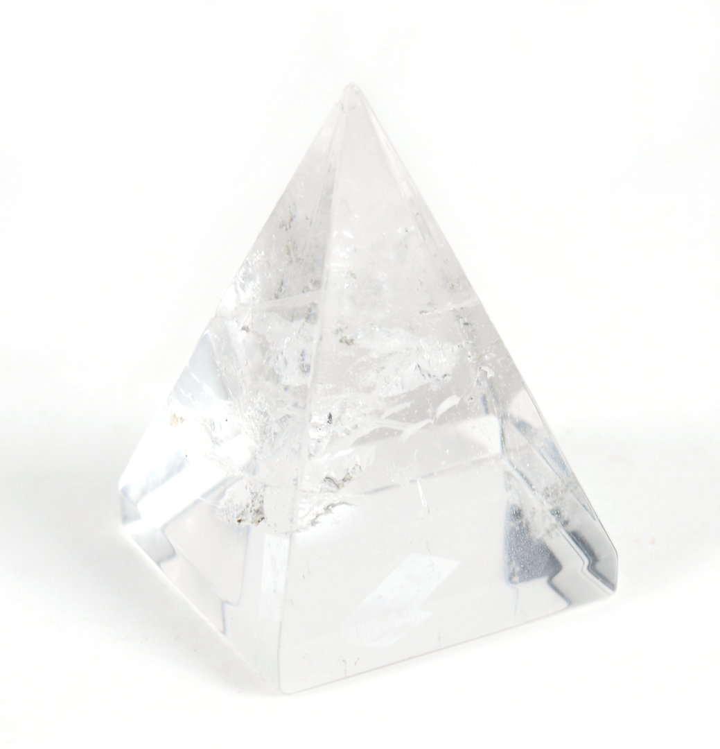 Piramide in Cristallo di Rocca (base:3,5x3,6cm circa).Soprammobile,Idea Regalo