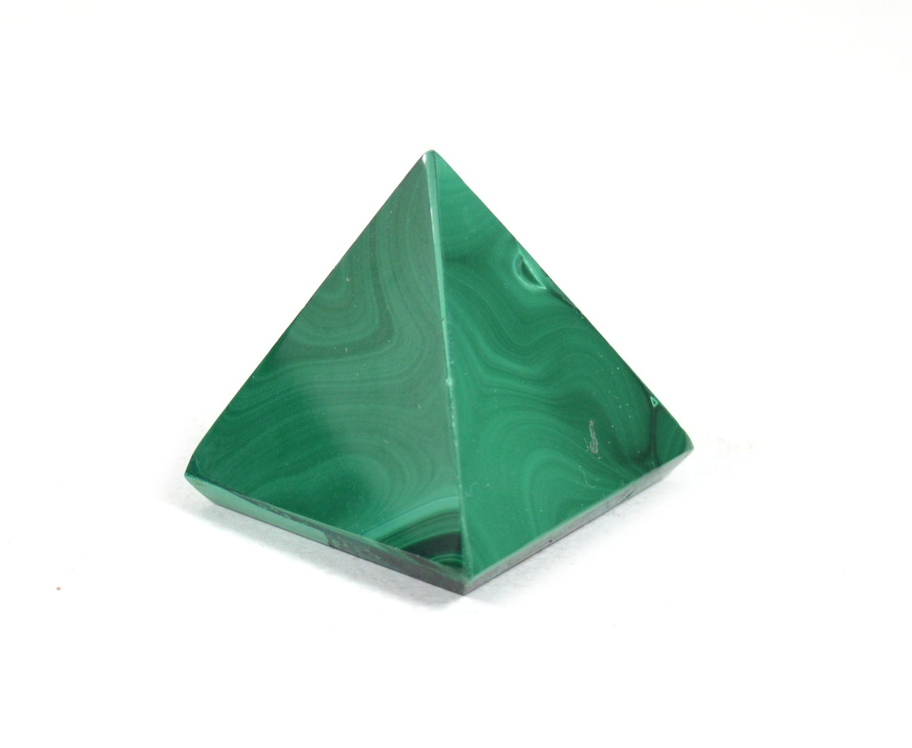 Piramide in Malachite.Soprammobile,Idea Regalo
