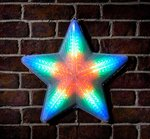 Multicolour  LED digital star