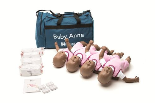 Baby Anne 4-pack - Pelle scura