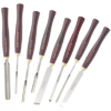 Set of 8 professional HSS gouges for wood turning