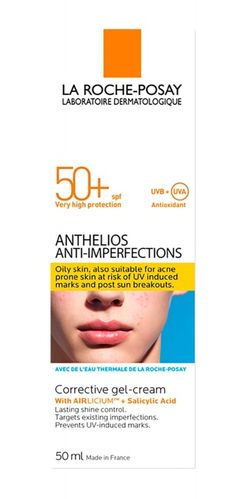La Roche-Posay Anthelios  Anti-Imperfections Gel-Crema con AIRLICIUM+Acido Salicilico
