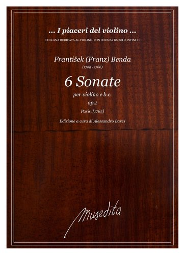 F.Benda - 6 Sonate op.1 (Paris, 1763)