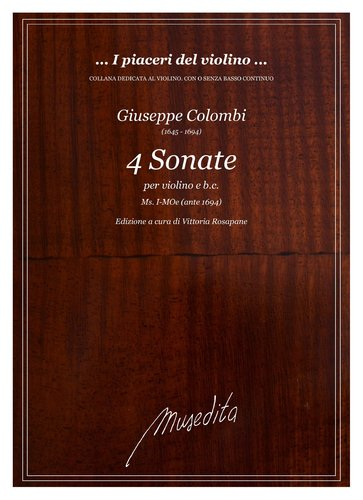 G.Colombi - 4 Sonate manoscritte (I-MOe)
